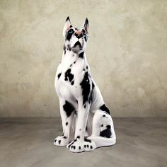 """Great Dane by Intrada Italy 25""""H. Great Dane dog statue is 25 inches high.  Beautiful ceramic sculpture hand made in Italy by skilled artisans.  Item # 11012 Ships FREE in continental USA Price: $279.00"""