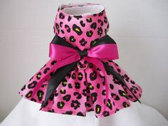 Dog Dress  Teacup  Hot pink with Black   By by NinasCoutureCloset, $15.00