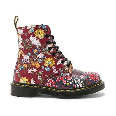 Dr. Martens Pascal FC 8 Eye Booties (1.938.255 IDR) ❤ liked on Polyvore featuring shoes, boots, ankle booties, booties, lace up boots, oil resistant boots, laced up booties, lacing boots and lace up ankle booties