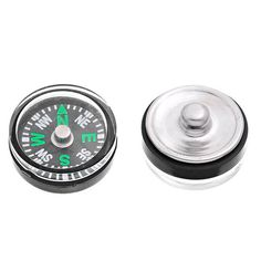 Hot 2PCs Compass Snap Buttons Fit DIY Bracelet Necessity For Traveller 20mm