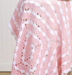 [Free Pattern] Quick, Easy, And Very Pretty Crochet Baby Blanket Pattern - http://www.dailycrochet.com/free-pattern-quick-easy-and-very-pretty-crochet-baby-blanket-pattern/