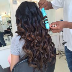 Those fabulous curls brought to you by Leyla Milani Hair Triple Threat 3-in-1 Curling Iron!