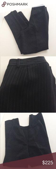 Donna Karan New York black brown pinstripe pants Donna Karan New York black brown pinstripe pants -fits a size small. DKNYC Pants Trousers