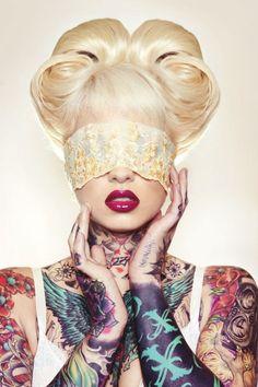 Linda, Inked Girls, tattooed girls model, tattoo, ink, woman, girl