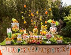Easter birthday Rental jars and decoration for events. Candy bar, sweet buffet