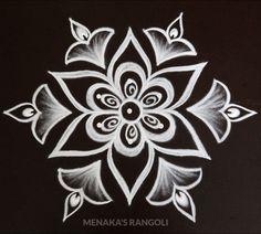Rangoli Side Designs, Simple Rangoli Border Designs, Rangoli Simple, Rangoli Designs Latest, Free Hand Rangoli Design, Small Rangoli Design, Rangoli Patterns, Rangoli Designs Diwali, Rangoli Designs With Dots