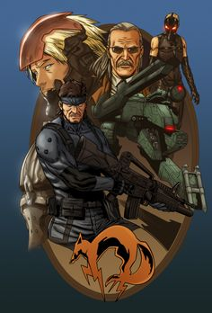 Metal Gear Solid by Hitokirisan on DeviantArt Snake Metal Gear, Metal Gear Games, Revolver Ocelot, Video Game Art, Video Games, Raiden Metal Gear, Cyberpunk Games, Metal Gear Solid Series, Gear Art