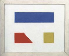 Abstract composition    Artist: Bart van der Leck  Style: Neoplasticism / De Stijl  Genre: abstract painting