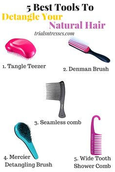 5 Best Tools To Help Detangle Natural Hair                                                                                                                                                     More