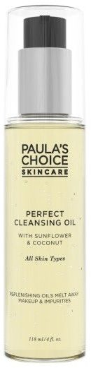Paula's Choice Perfect Cleansing Oil  The easiest way to remove makeup without tugging on your skin and eyelashes is a cleansing oil/balm — not all are created equally however. This one from Paula's Choice is made with a bunch of skin-nourishing oils to not just remove makeup, but also hydrate your skin. Best part is that it emulsifies all your makeup and excess sebum easily and then rinses cleanly without leaving an oily residue — just satiny soft skin.  #affiliate #skincare #PaulasChoice