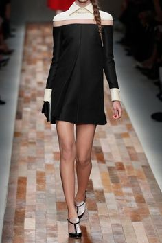 Valentino | Tulle-paneled wool and silk-blend dress | NET-A-PORTER.COM