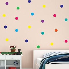 Polka Dot Wall Stickers Rainbow multicolour 50mm 100pcs D... https://www.amazon.co.uk/dp/B073V1BPCM/ref=cm_sw_r_pi_dp_x_o6GcAbXW89WQZ