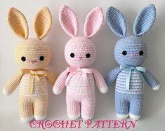 Mesmerizing Crochet an Amigurumi Rabbit Ideas. Lovely Crochet an Amigurumi Rabbit Ideas. Crochet Sheep, Crochet Bunny Pattern, Crochet Rabbit, Easter Crochet, Crochet Toys Patterns, Crochet Patterns Amigurumi, Amigurumi Doll, Stuffed Toys Patterns, Crochet Dolls