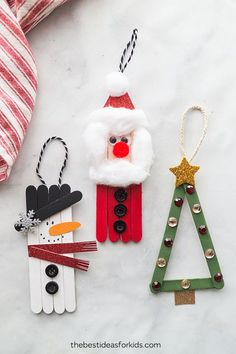 Popsicle Stick Ornaments . . #ecobynaty #naty #baby #babycare #organic #eco #green #natural #mother #mom #father #dad #environment #child #care #inspire #ecofriendly #parents #Parenting #style #pregnant #design #toddler #little #love #family #homemade #diy #doityourself