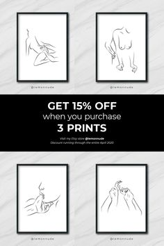 I'm running a discount of when you purchase 3 of my prints! Minimal Drawings, Easy Drawings, Small Canvas Art, Canvas Wall Art, Sweet Romantic Quotes, Body Outline, Black Girl Art, Small Tattoo Designs, Wallpaper Iphone Cute