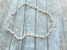 Homemade cream off white pearl rosary by JHFWBeadsAndFindings