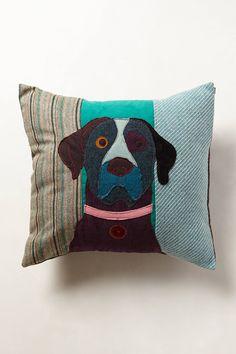 Patchwork Hound Pillow