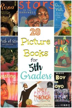 If you have a resistant reader it might be time to give picture books a try! Picture books are great for older readers, even middle schoolers. Here is a list of award winning picture books for 5th graders along with a lesson plan for the picture books for older children.
