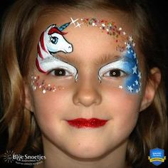 Easy and Quick Patriotic Unicorn Mask by Annabel Hoogeveen