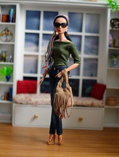 Bohemian Spring #OOAKBarbie #BarbieRepaint #BarbieOOTD #BarbieStyle #BarbieFashion #BohoBarbie #BohoOOTD #BarbiePhoto #DollPhoto #PlasticallyPerfect