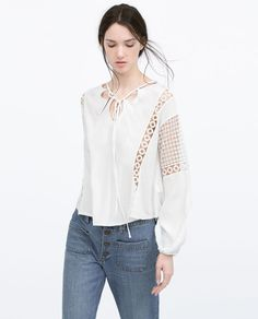 ZARA - NEW THIS WEEK - GUIPURE LACE BLOUSE