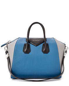 "Givenchy ""Antigona"" Tricolor Medium Leather Satchel"