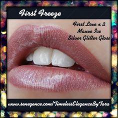 First Freeze layered #LipSense look by #SeneGence. Distributor 292182