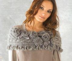 knit/cro shawl...Gorgeous!