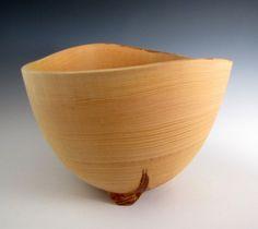 Large White Ash Wood Turned Fruit or Salad Bowl  by JLWoodTurning