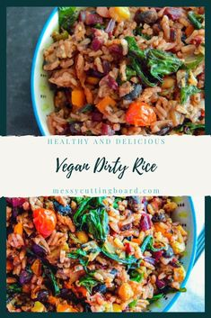 This Vegan Dirty Rice is everything you crave in the traditional dirty rice zesty and slightly spicy without the extra fats and calories. #vegan #vegetarianrecipe #homecook #recipe #healthybites Side Dish Recipes, Pork Recipes, Seafood Recipes, Side Dishes, Chicken Recipes, Vegetable Recipes, Vegetarian Recipes, Dirty Rice, Complete Recipe