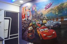 wallpaper in kids room, design by Arpita Doshi, architect in Kolkata, West Bengal, India.