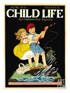 What a Catch - Child Life, June 1931 Giclee Print