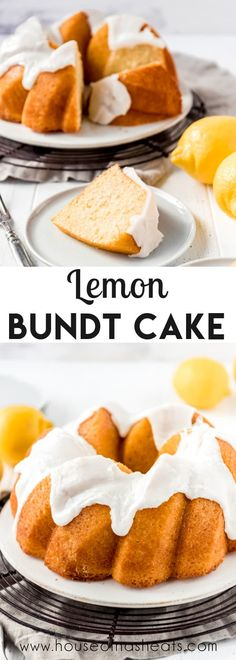 A Lemon Bundt Cake is a simple, elegant dessert with a tight, buttery crumb and a deliciously tangy and sweet citrus glaze on top. It's perfect for celebrations or just because! #lemon #bundt #cake #homemade #best #simple #glaze #pound Lemon Recipes Sweet, Lemon Dessert Recipes, Cupcake Recipes, Pie Recipes, Lemon Bundt Cake Recipe From Scratch, Cake Recipes From Scratch, Elegant Desserts, Easy Desserts
