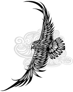 A falcon design i created for my latest tattoo. Still working on the clouds, but as for the falcon I consider the design ready for laying in the ink.
