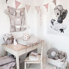 Dreamy baby girl nursery. I love all the details  |☞ http://petitandsmall.com/girls-nursery-soft-tones/