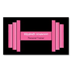300 best fitness trainer business cards images on pinterest modern pink and black personal trainer business card colourmoves