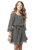 Chevron Dress for Tweens