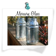 Projects using Krylon Looking Glass Spray and old jars, lamps, etc...