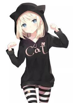 Like 219 times, 2 Comments - Anime Otaku Kawaii ( on .- Gefällt 219 Mal, 2 Kommentare – Anime Otaku Kawaii ( auf … Like 219 times, 2 Comments – Anime Otaku Kawaii … - Anime Neko, Kawaii Anime Girl, Lolis Neko, Chica Anime Manga, Manga Girl, Anime Girls, Anime Art, Kawaii Cat, Chat D'anime