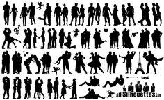 silhouettes   Romantic Love Couple Silhouettes Free Company Logo Download, Vector ...