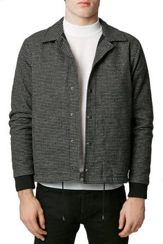 TOPMAN - Brushed Cotton Check Coach Jacket at Nordstrom Rack. Free Shipping  on orders over e2afb8456