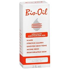 Bio-Oil Scar Treatment, $10.50, smells delightful and helps keep skin conditioned as you grow (pregnancy) or shrink (lose weight) so you don't get stretch marks. Did you know you can also use a tiny amount in your hair to quench parched ends? Miracle worker.