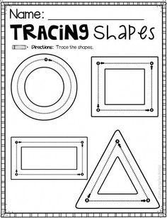 Cutting and Tracing Worksheets for Preschool and Kindergarten is a no prep packet packed full of worksheets and printables to help reinforce and build fine motor and writing skills through fun and Preschool Writing, Preschool Lessons, Preschool Classroom, Preschool Learning, Writing Activities, Early Learning, Preschool Activities, Preschool Printables, Preschool Shapes