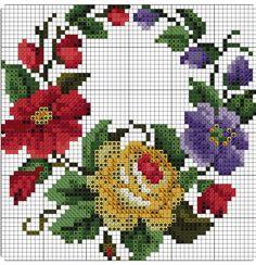 Cross Stitch Borders, Simple Cross Stitch, Cross Stitch Rose, Cross Stitch Alphabet, Cross Stitch Flowers, Cross Stitch Designs, Cross Stitching, Cross Stitch Patterns, Folk Embroidery