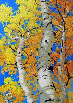 Tall Aspen Trees Greeting Card for Sale by Gary Kim. Our premium-stock greeting cards are x in size and can be personalized with a custom message on the inside of the card. All cards are available for worldwide shipping and include a money-back guarantee. Abstract Tree Painting, Autumn Painting, Watercolor Trees, Abstract Trees, Small Canvas Paintings, Fall Art Projects, Aspen Trees, Tree Illustration, Autumn Trees