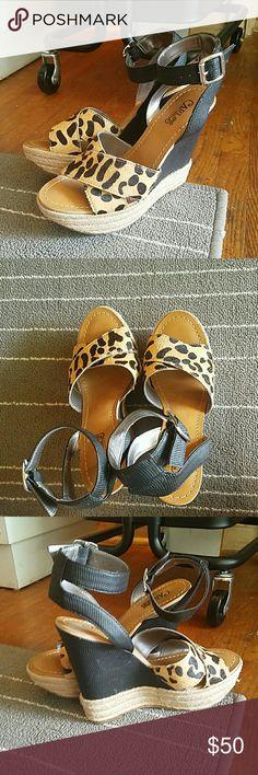 Carlos Santana Wedges Never worn. Carlos Santana Shoes Wedges