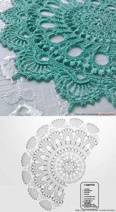 Best 10 Absolutely stunning round carpet in), doily rug, mint color carpet Shabby chic, rug for the living room, by LaceMats – SkillOfKing. Crochet Doily Rug, Crochet Doily Diagram, Crochet Carpet, Crochet Mandala Pattern, Crochet Flower Tutorial, Crochet Circles, Crochet Doily Patterns, Crochet Tablecloth, Thread Crochet