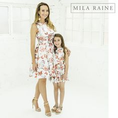 Gorgeous high quality matching dresses available form Mila Raine.