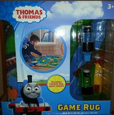 Thomas Game Rug **Includes Thomas - x Boy Toddler Bedroom, Big Boy Bedrooms, Kids Bedroom, Childrens Rugs, Thomas The Tank, Thomas And Friends, Cool Toys, Home Kitchens, Playroom