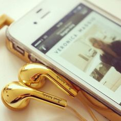 Gold Earbuds by Happy Plugs